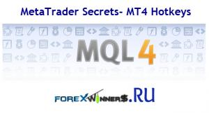 MetaTrader Secrets- MT4 Hotkeys